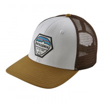 Patagonia Fitz Roy Hex Trucker Hat White