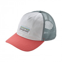 Patagonia Women Pastel P-6 Label Layback Trucker White W/Spiced Coral