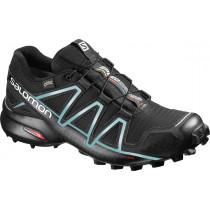 Salomon Shoes Speedcross 4 Gtx Women's Black/Black/Metallic Bubble Blue