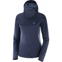 Salomon Agile LS Hoodie Women's Night Sky/Crown Blue