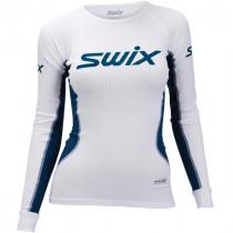 Swix RaceX Bodyw Longsleeve Womens Bright White/ Majolica