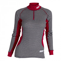 Swix RaceX Bodywear Halfzip Womens Black/Grey Stripes