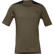 Norrøna Skibotn Wool Equaliser T-Shirt Men's Dark Olive