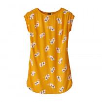 Patagonia Women's June Lake Dress Mariposa Lily: Rugby Yellow