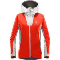 Haglöfs Kabi (K2) Jacket Women Stone Grey/Pop Red