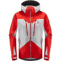 Haglöfs Spitz Jacket Women Stone Grey/Pop Red