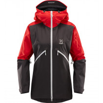 Haglöfs Khione Jacket Women Slate/Rich Red