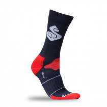 "Sweet Protection Crossfire Merino Socks 6"" Midnight Blue/Cody Orange"