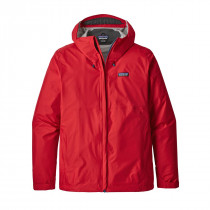 Patagonia M Torrentshell Jkt Fire W/Big Sur Blue