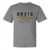 Orvis Vintage Brookie T-Shirt Grå