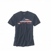 Orvis American Flag Trout T Shirt Mørk Blå