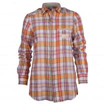 Amundsen Sports Roamer Cotton/Linen Shirt Woman Chequered Blue