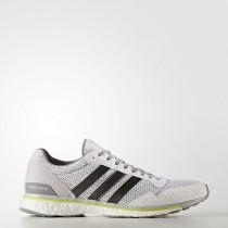 Adidas Adizero Adios 3 Men's Footwear White/Trace Grey Metalic/Solar Yellow