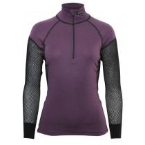 Brynje Lady Wool Thermo Zip Polo Black/Purple