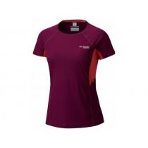 Columbia Montrail Women's Titan Ultra Short Sleeve Shirt Dark Raspberry, Red Coral