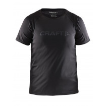 Craft Run Shortsleeve Tee Junior Black
