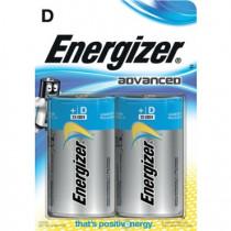 Energizer Advanced 2stk Black D/Mono/E95