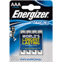 Energizer Ultimate Lithium 4stk Black AAA/LR3/L92