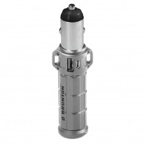 Brunton Torpedo 2600mAh, 2X Charges- Silver
