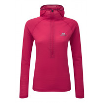 Mountain Equipment Solar Eclipse Women's Hooded Zip Tee Virtual Pink configurable