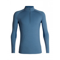 Icebreaker Mens 200 Zone LS Half Zip Granite Blue/Prussian Blue
