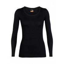 Icebreaker Womens 200 Oasis LS Scoop Black