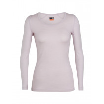 Icebreaker Womens 200 Oasis LS Scoop Blush Hthr
