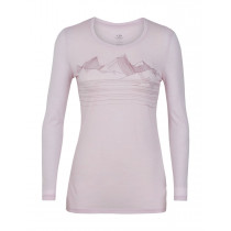 Icebreaker Womens Tech Lite LS Low Crewe Approach Blush Hthr