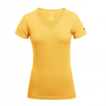 Devold Breeze Woman T-Shirt V-Neck Cyber