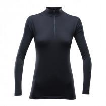 Devold Breeze Woman Half Zip Neck Black