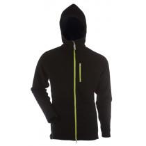 Gridarmor M's Fleece Afternoon Hoodie 1/1 Zipper Black Beauty & Lime Zipper