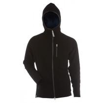 Gridarmor M's Fleece Afternoon Hoodie 1/1 Zipper Black Beauty & Dark Shadow Zipper