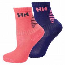 Helly Hansen Junior Hh Lifa Merino 2-Pack Sock Lavender/Neon Coral