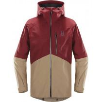 Haglöfs Nengal Jacket Men Dark Ruby/Oak