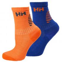 Helly Hansen Kids Hh Lifa Merino 2-Pack Sock Olympian Blue / Flame