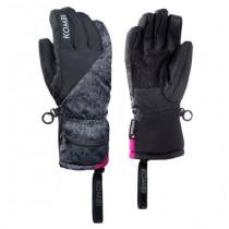 Kombi The Oliver Glove Junior Black Snowflake