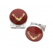 Laksen Stags Head Cuff Links - Blood Orange