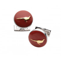 Laksen Pheasant Cuff Links - Blood Orange