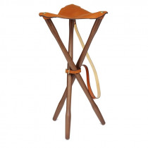 Laksen Teak & Leather Tripod 80cm Nat. Oak