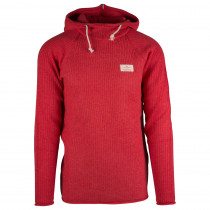 Amundsen Sports Boiled Hoodie Ribbed Mens Weathered Red
