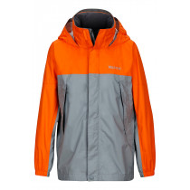 Marmot Boy's Precip Jacket Grey Storm/Bright Orange