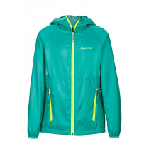 Marmot Girl's Ether Hoody Turf Green/Celtic