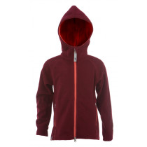 Matso Kids Fleece Polar Hoodie 1/1 Zipper Tawny Port/Peach Eco