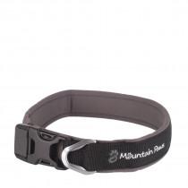 Mountain Paws Halsbånd, Dog Collar Black XL