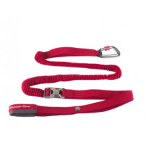 Mountain Paws Hundebånd Elastisk, Shock Absorber Red