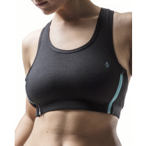 Northern Playground Women's Zipbra Wool Black