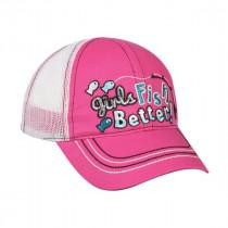 Outdoor Cap Caps Us Kid Girls Fish Better Rosa/Hvit