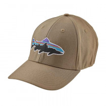 Patagonia Fitz Roy Trout Stretch Fit Hat Ash Tan