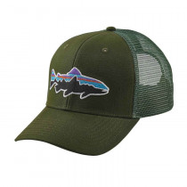 Patagonia Fitz Roy Trout Trucker Hat Glades Green