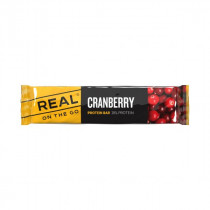 Real On the Go Protein Bar Tranebær 40 gram